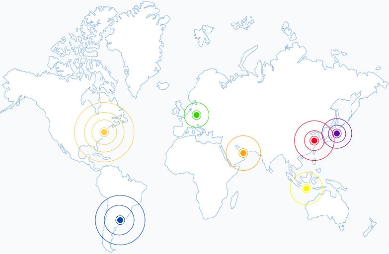 World map of language teachers